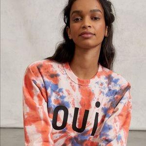 Clare V. Oui Tie-Dye Sweatshirt